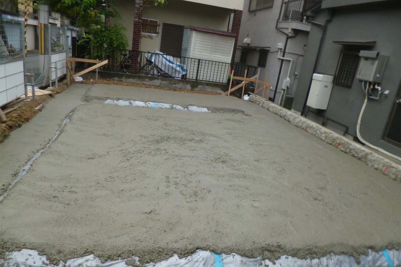 枚方市 M様邸 捨てコンクリート打設