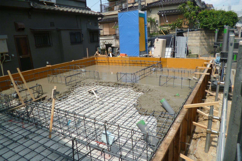 枚方市 M様邸 ベースコンクリート打設
