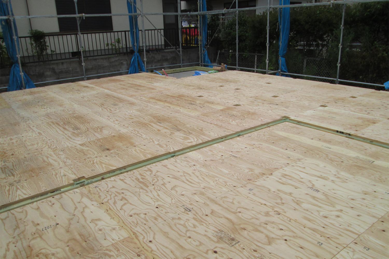 堺市 S様邸 構造用合板施工