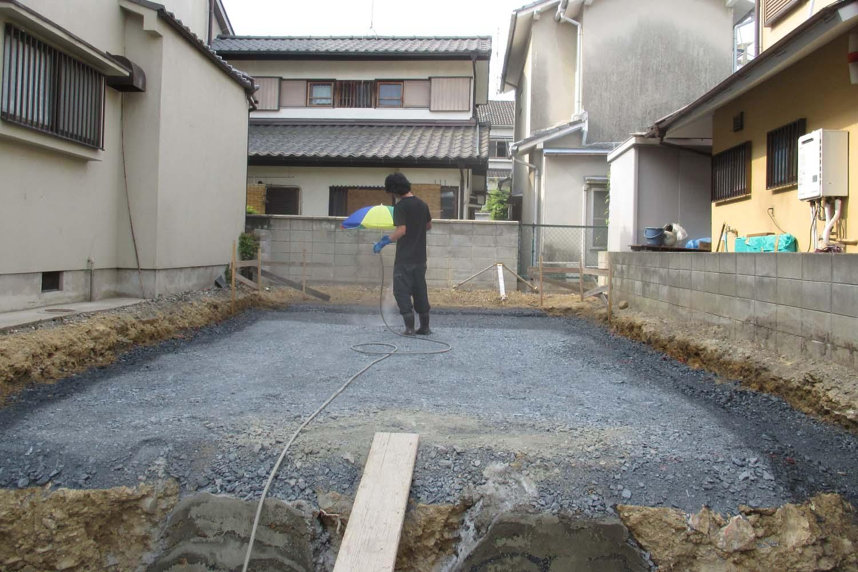 長岡京市 S様邸 土壌処理