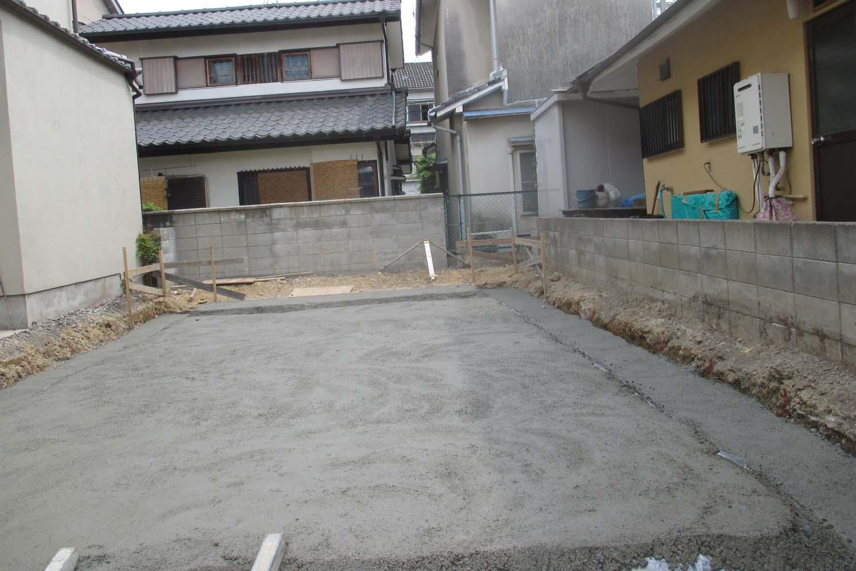 長岡京市 S様邸 捨てコンクリート